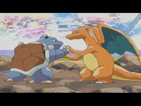 Pokemon Ash Vs Gary Johto League Complete Battle Pokemon Charizard