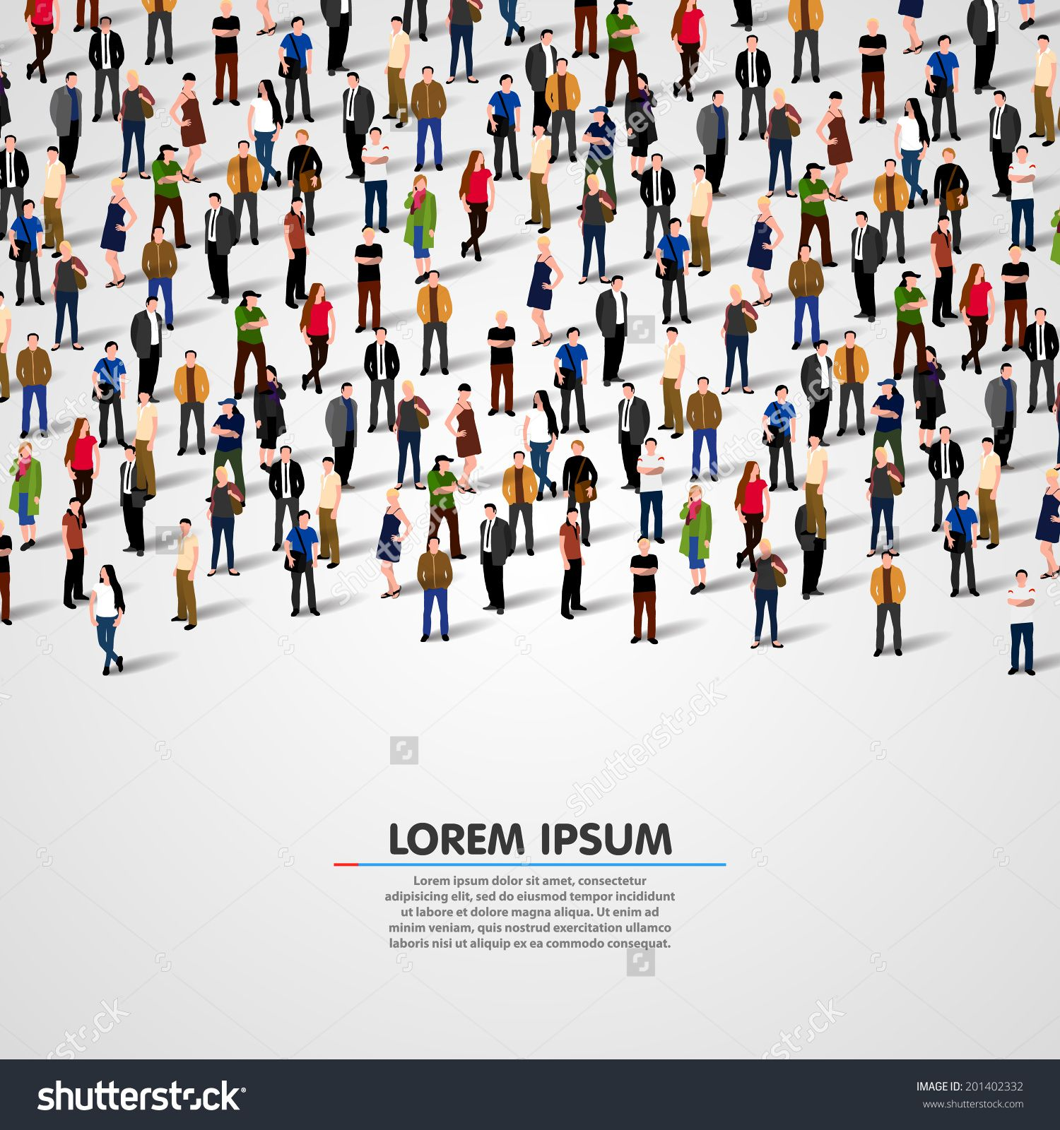 A Large Group Of People. Vector Background 201402332