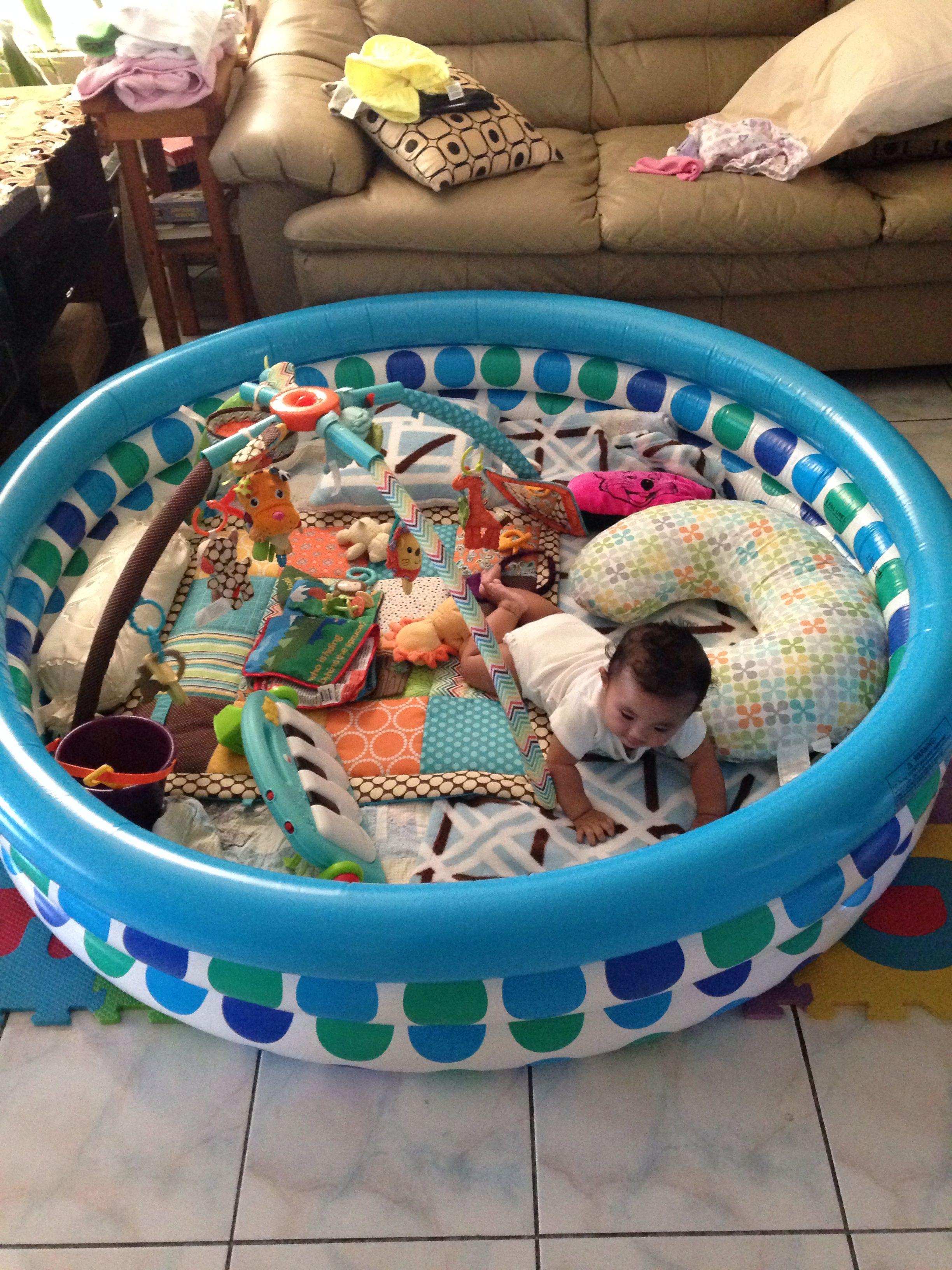 aus einem plantschbecken wird ein spielbereich kind pinterest babys kinderzimmer und. Black Bedroom Furniture Sets. Home Design Ideas