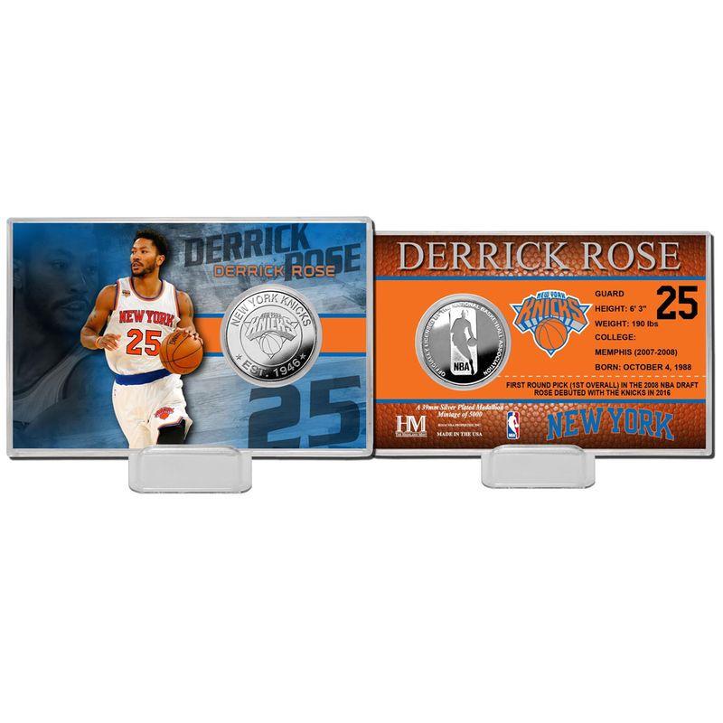 Derrick Rose New York Knicks Highland Mint Player Coin Card