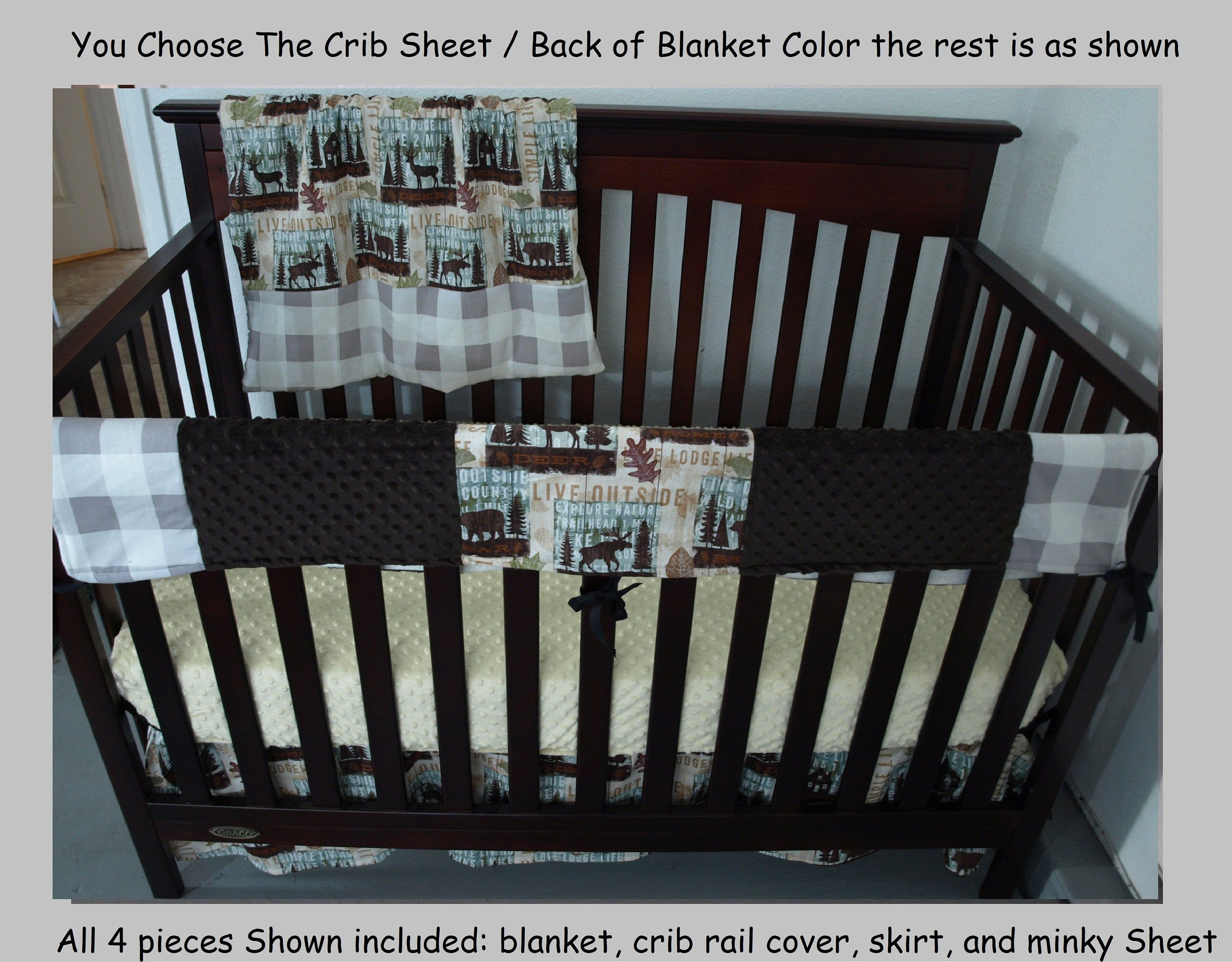 lodge baby cabin crib bedding set