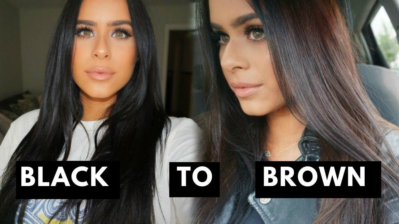 From Black To Brown Hair How I Lightened My Hair Youtube Bleaching Black Hair Removing Black Hair Dye Hair Dye Removal