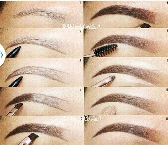 How To Fill In Your Eyebrows Makeup Pinterest Makeup Eyebrows