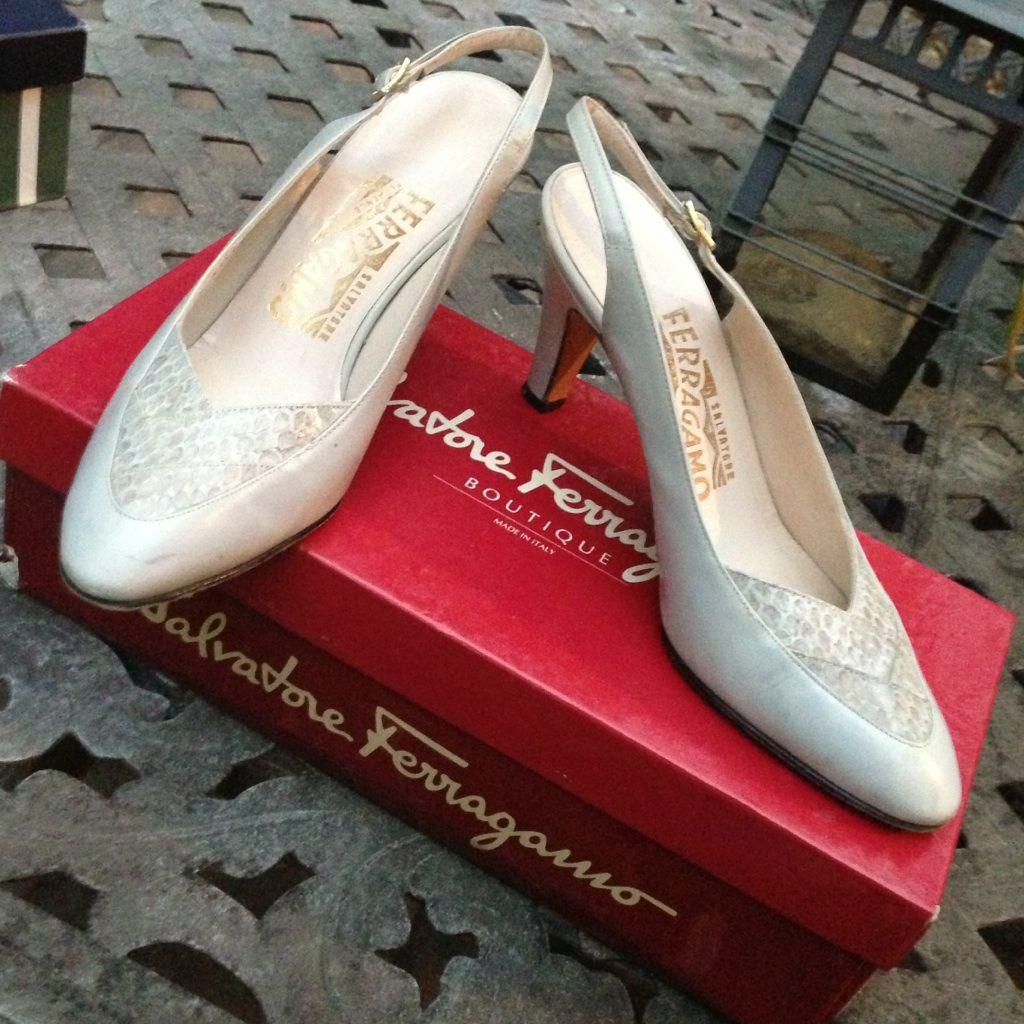 Light Grey Vintage Salvatore Ferragamo Size 6b
