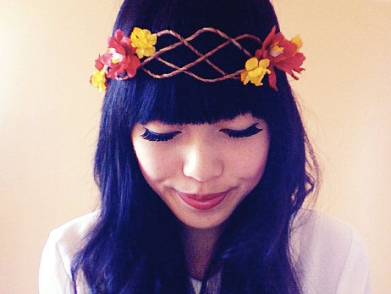floral hair wreath // woodland collection  laylah by kisforkani, $49.00