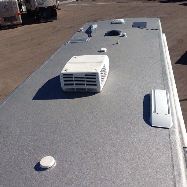 Eco Coat Rhinolinings Sprayonroof Lifetime Roof Traveltrailer Rv Camping Camper Trailer Living Rv Care