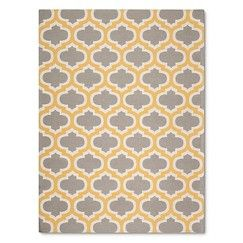 Threshold Indoor Outdoor Flatweave Fretwork Accent Rug Yellow