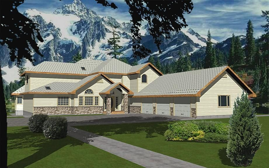 Hpm Home Plans Home Plan 001 3054 Modern Style House Plans House Plans Contemporary House Plans