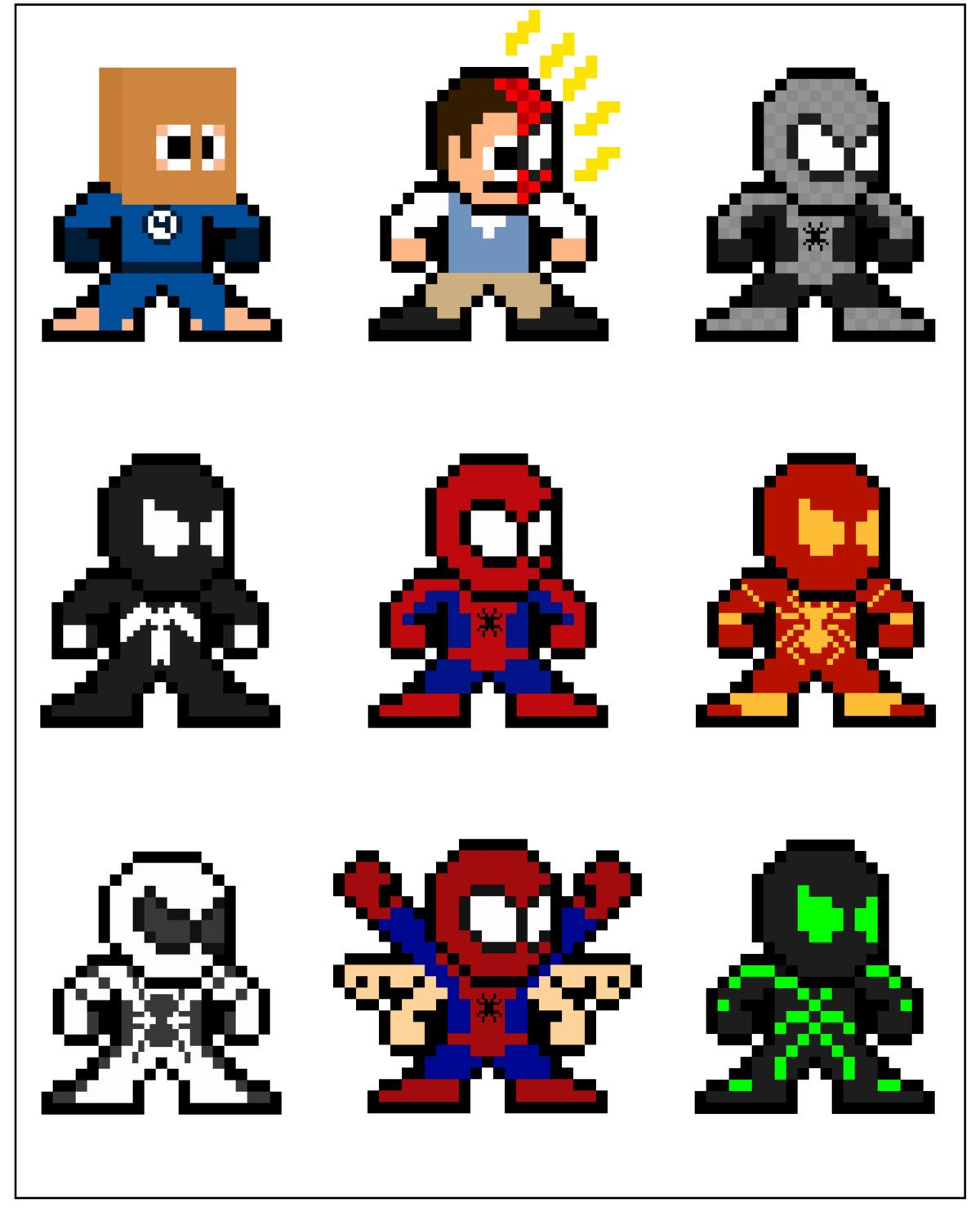 8-bit Spideman Through the Ages Mega Man Style by 8bitherodotorg ...
