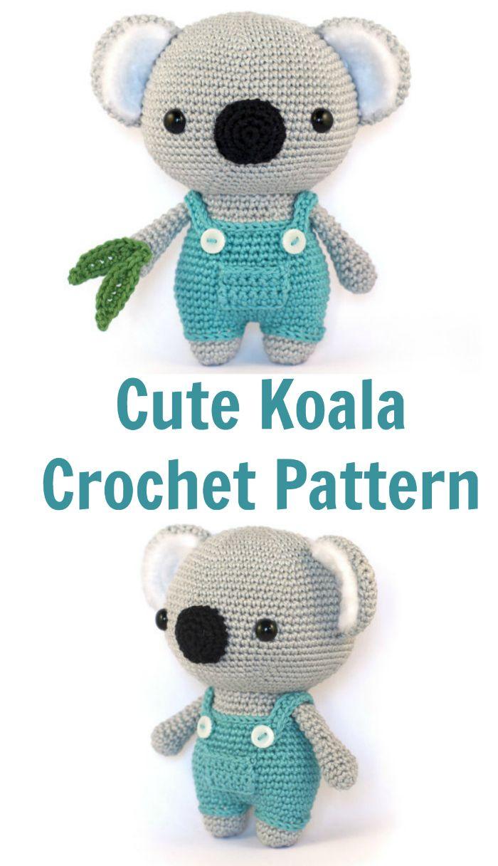 Amazing! Cute Koala bear amigurumi crochet pattern. | Crochet ...