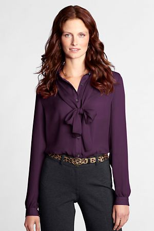 Women S Blouses At Lands End C L O T H E S Pinterest Bow