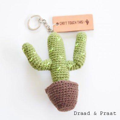 Haakpatroon Cactus Sleutelhanger Amigurumi Crochet Amigurumi En