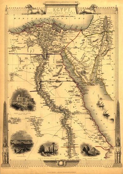Pin By Erin Wefel On Egyptian Maps Egypt Map Antique World Map