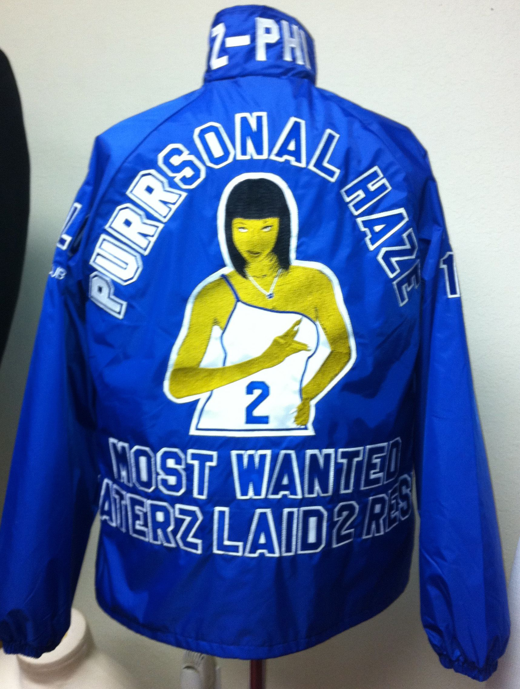 Blue apron beta - Zeta Phi Beta Blue Crossing Jacket Sexy