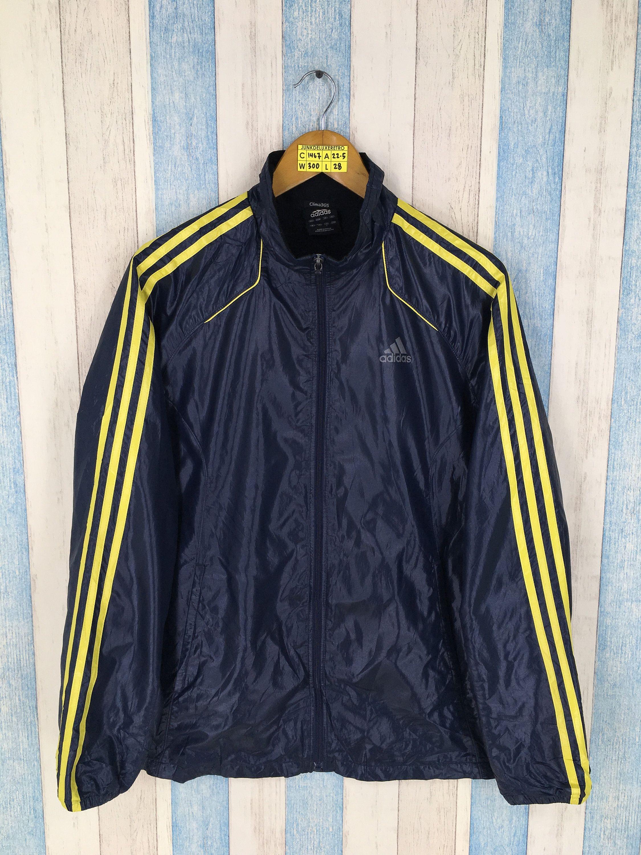 90bd0cfe5ddd ADIDAS Jacket Firebird Large Vintage 90s Adidas Three Stripes Black Track  Top Adidas Sportswear Sport Sweater