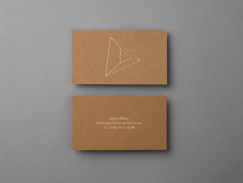 business card for James Moes by Xavier Encinas then include a ...