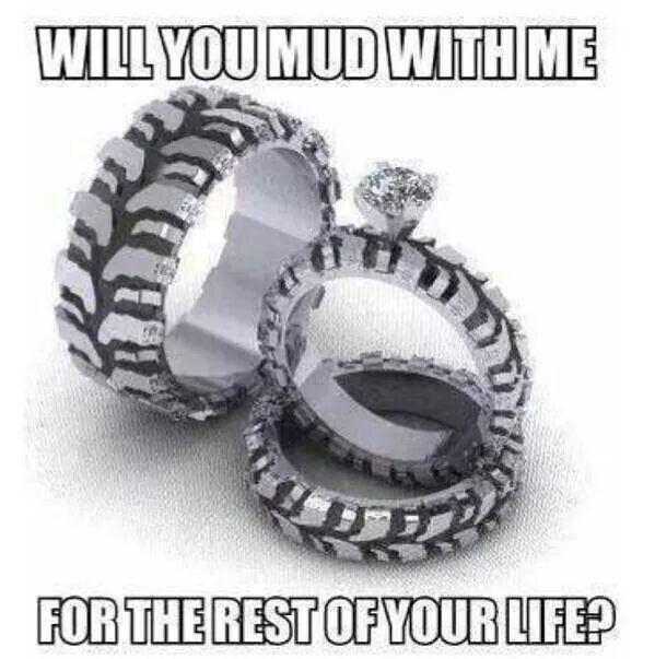 Buck and doe wedding rings