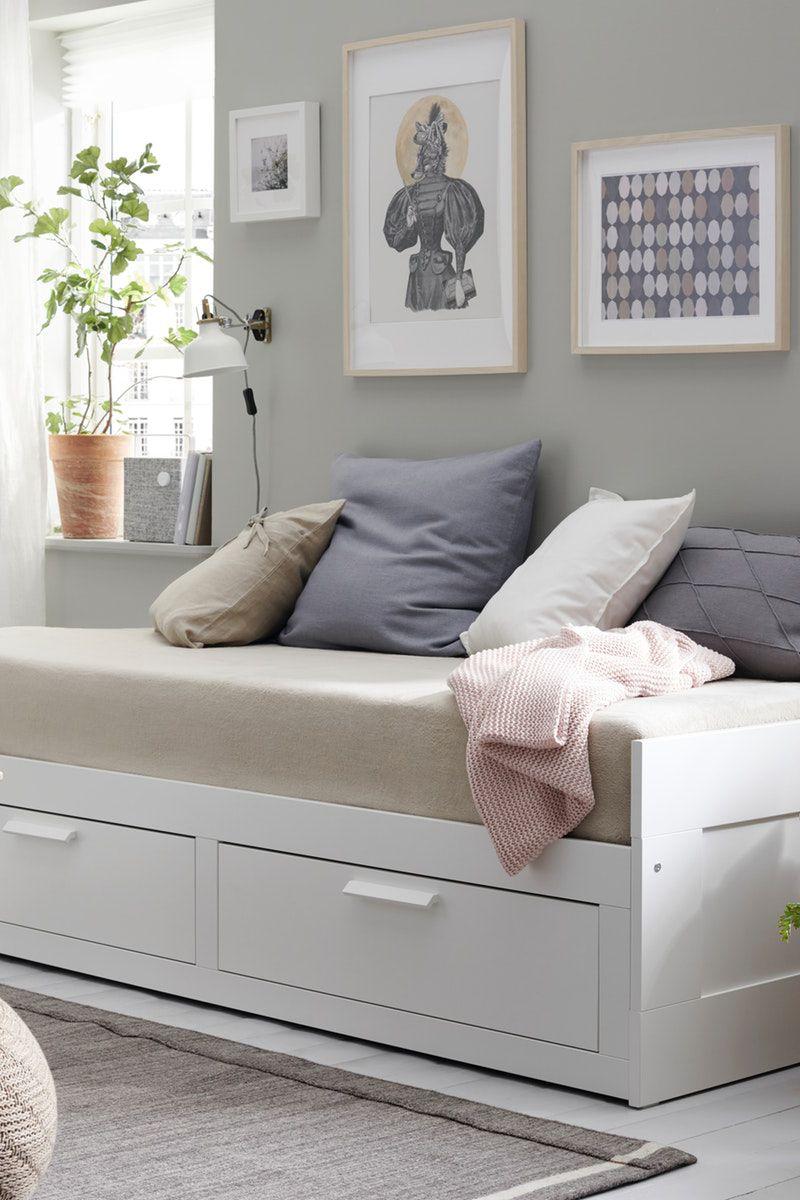 BRIMNES Tagesbettgestell/2 Schubladen weiß IKEA