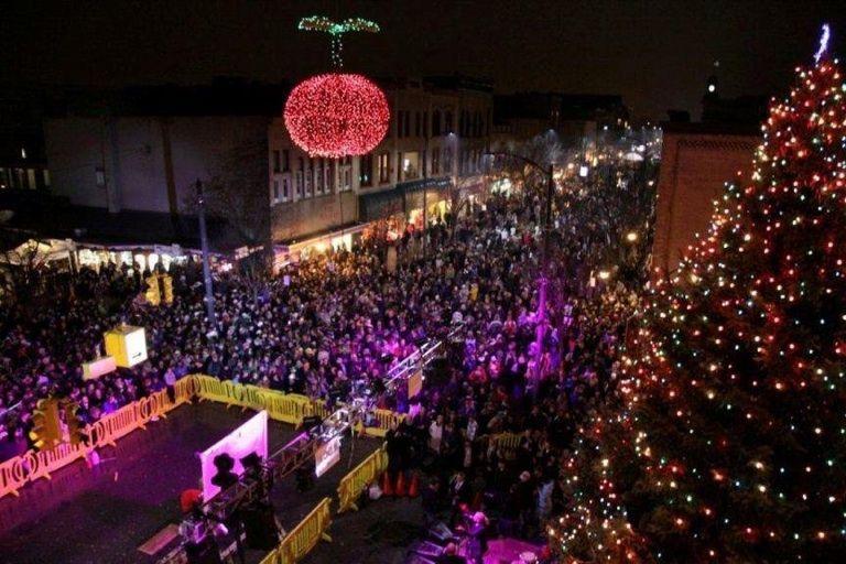Traverse City Michigan Cherry Drop Happy New Year!!!