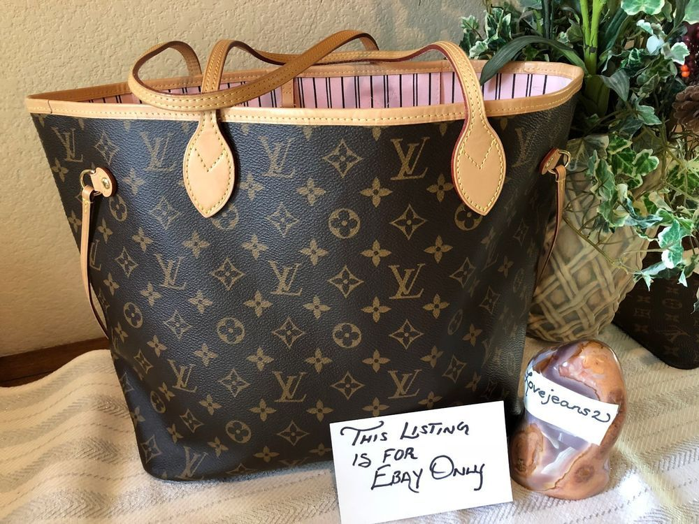 901f423e7b35 LOUIS VUITTON ROSE BALLERINE NEVERFULL MM MONOGRAM PINK Has never been used!