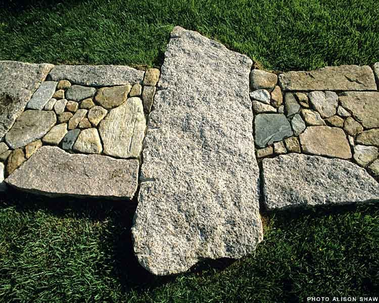 Lew French creates one of a kind Interior Stone Designs with Hand-picked Rock and Natural Materials