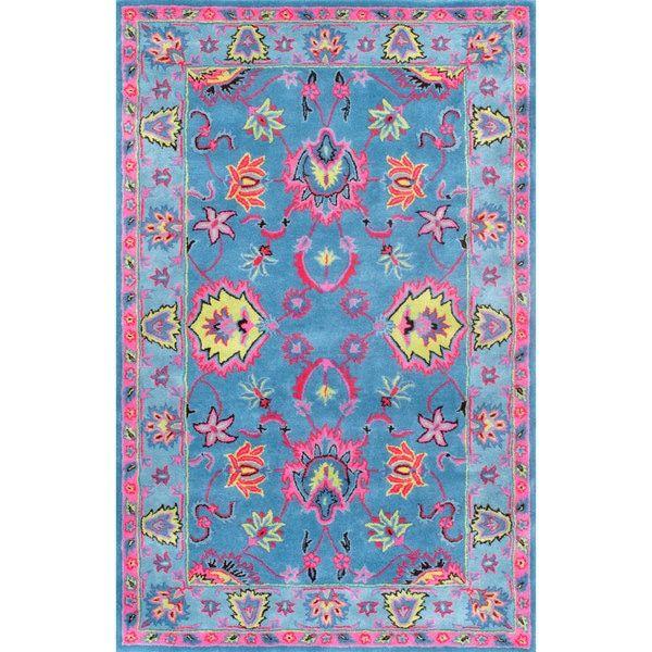 nuLOOM Handmade Overdyed Traditional Wool Blue Rug (7'6 x 9'6)
