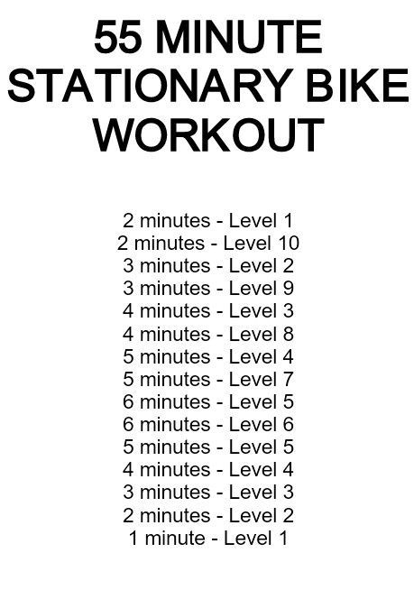 55 Minute Stationary Bike Routine I Created Onthefly During My