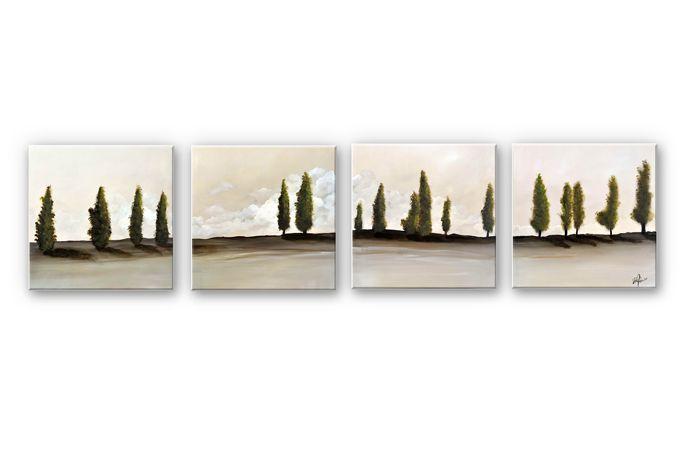 Wandbild Fedrau - Frieden (4-teilig) Wandbild Pinterest - wandbilder für die küche