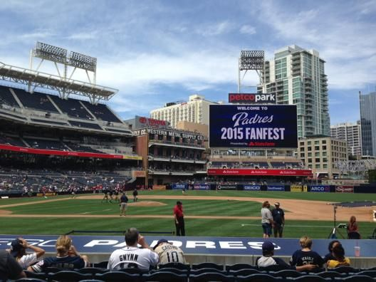 View From The Infield Seats At Petco Park Home Of San Diego Padres