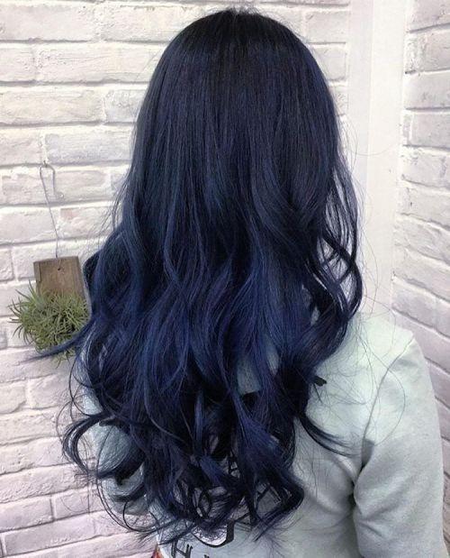 20 Dark Blue Hairstyles That Will Brighten Up Your Look Hair Styles Hair Color Blue Blue Black Hair
