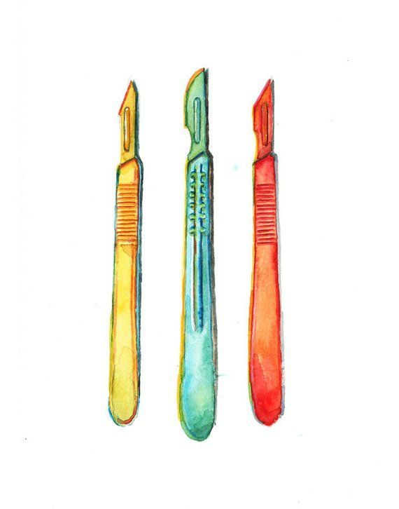 Surgical Instruments Watercolor Artwork Print Check more at http://medicalbook.feso.online/20… ae93720bbcd3c888b868f21010060099