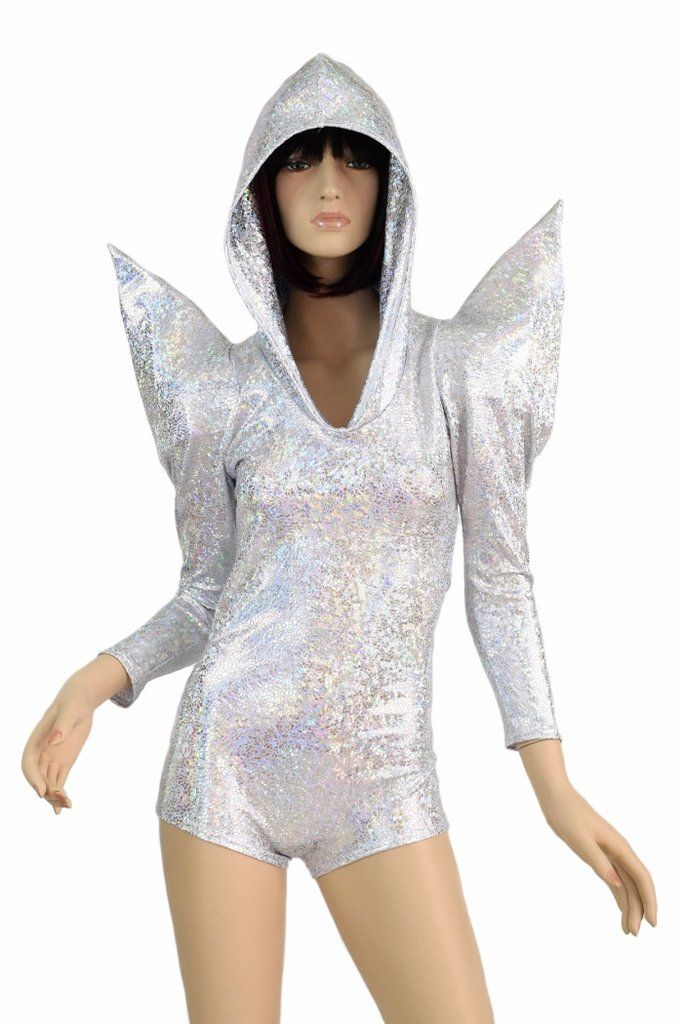 fa2b328f8d9 Holographic Sharp Shoulder Romper – Coquetry Clothing