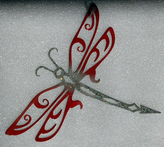 art ooak illustration original pin dragonfly decor nature for painting home watercolor
