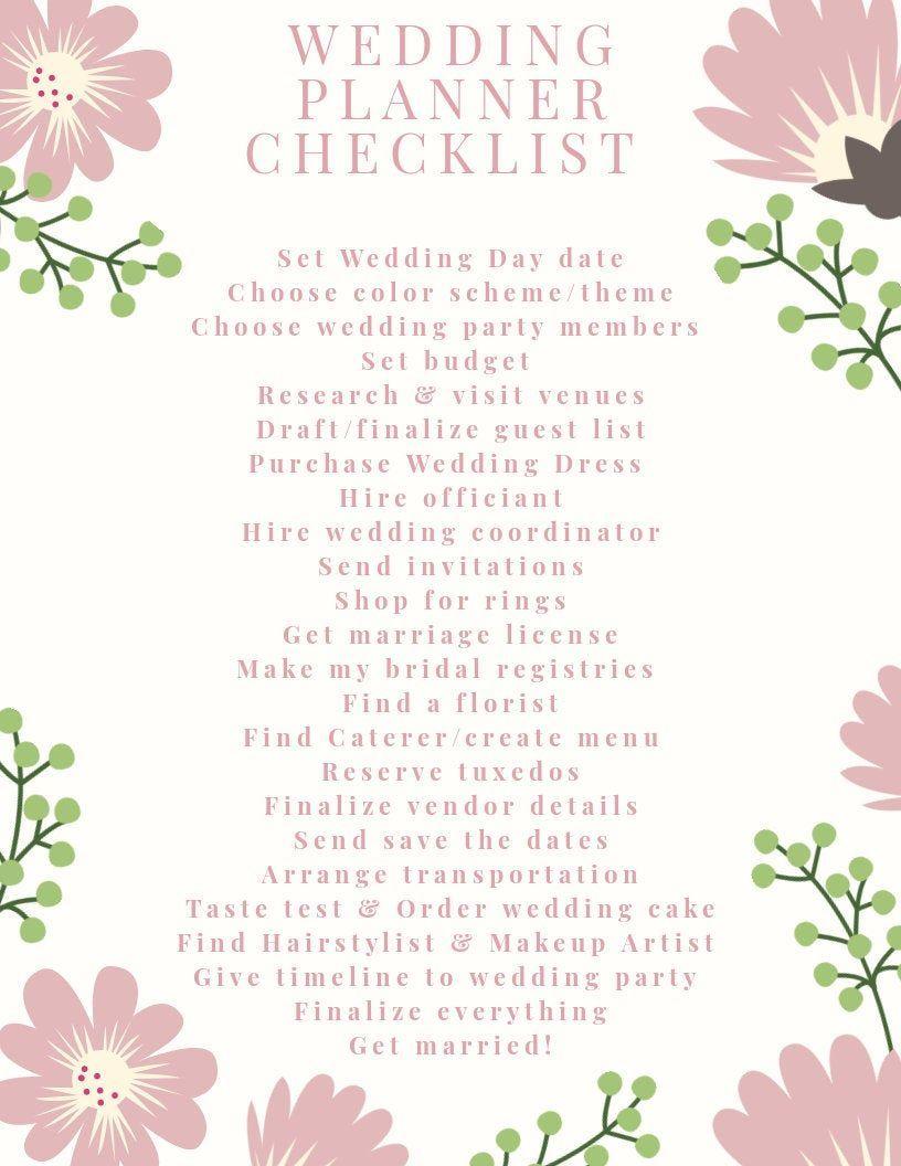 Simple Wedding Checklist Planner -   19 ressional wedding Songs ideas