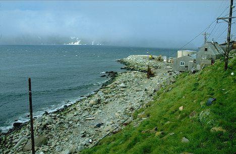 Picture of little diomede island village and coastline image alaska publicscrutiny Images