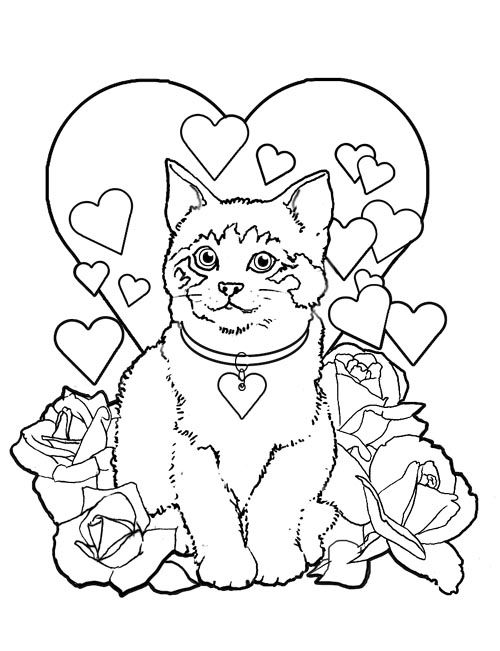 Valentine\'s Day Coloring Pages for Adults | to this page to print ...