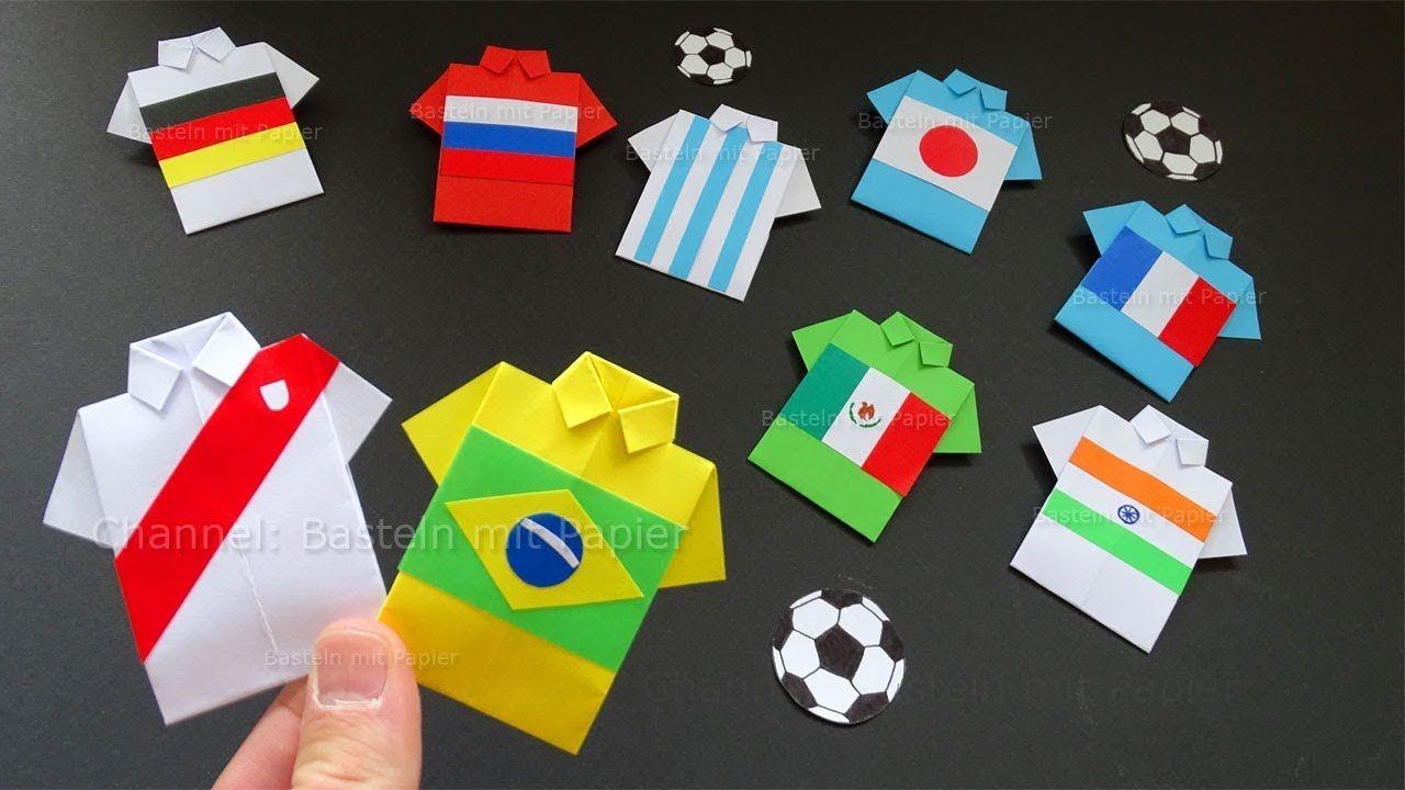 origami fussball trikot basteln mit papier hemd shirt falten diy geschenk bastelideen. Black Bedroom Furniture Sets. Home Design Ideas