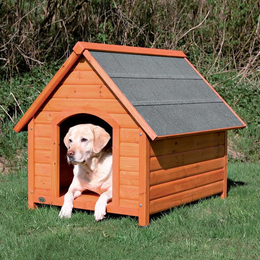 Trixie Pet Products 2 52 Ft X 2 31 Ft X 2 48 Ft Wood Small Dog House Lowes Com In 2020 Large Dog House Log Cabin Dog House Dog House