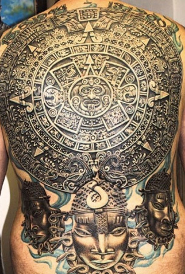Aztec Calendar Mayan Tattoos Aztec Tattoo Designs Aztec Tattoo