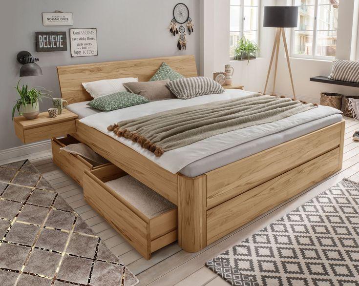 Bett Mit Integriertem Nachttisch