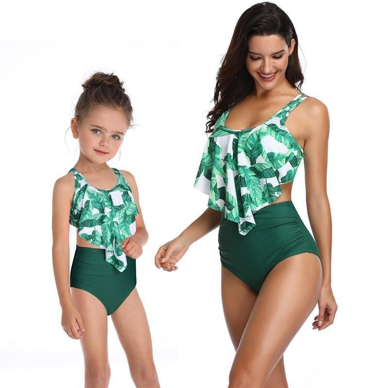 Mother Daughter Matching Swimsuit Low Waist Bikini Set Mommy and me Swimsuits