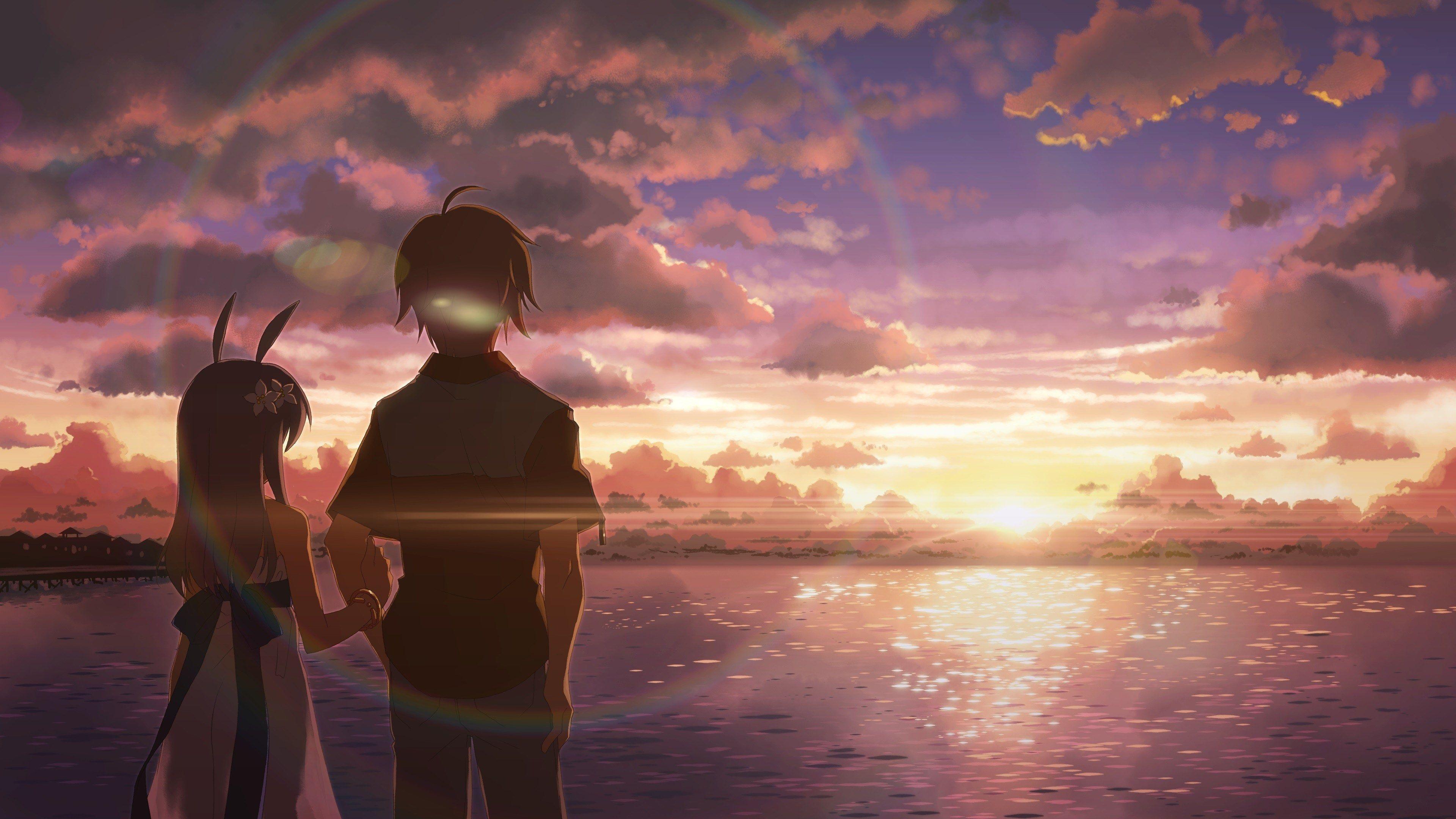 3840x2160 Anime 4k Hd Quality Desktop Wallpaper Anime Art Beautiful Anime Scenery Sunrise Wallpaper