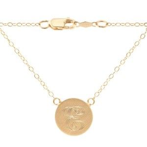 Sonya Renee Initial Disk Necklace...