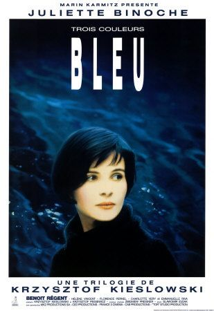 BLUE. top 10. Juliet Binoche is a beautiful tortured soul after an unthinkable tragedy shatters her world. This movie began my deep fascination with symbology in foreign film .  Demonstrated by the colour themes immersed in this BLUE instalment , I fell in love with it like candy.. From the blue glass lounge room light to  the sticky, sweet, crunchy blue lollipop. The scene where she scrapes her knuckles in punishment across a jagged stone fence. Oh my! This director is a beautiful genius.