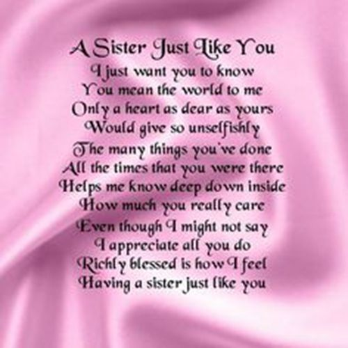 Happy Birthday Poems From Brother To Sister Yahoo Image Search
