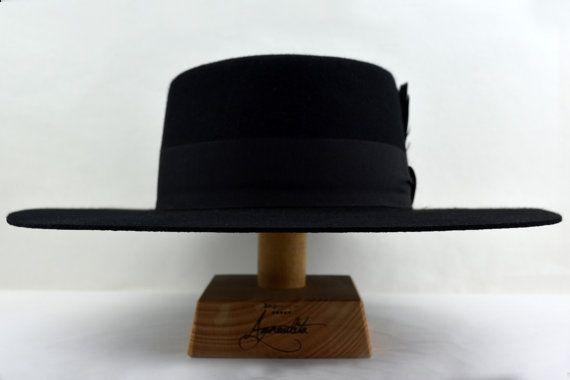 b7e7b60fc5f6da Bolero Hat | The DRESS | Black Wool Felt Flat Crown Wide Brim Hat ...