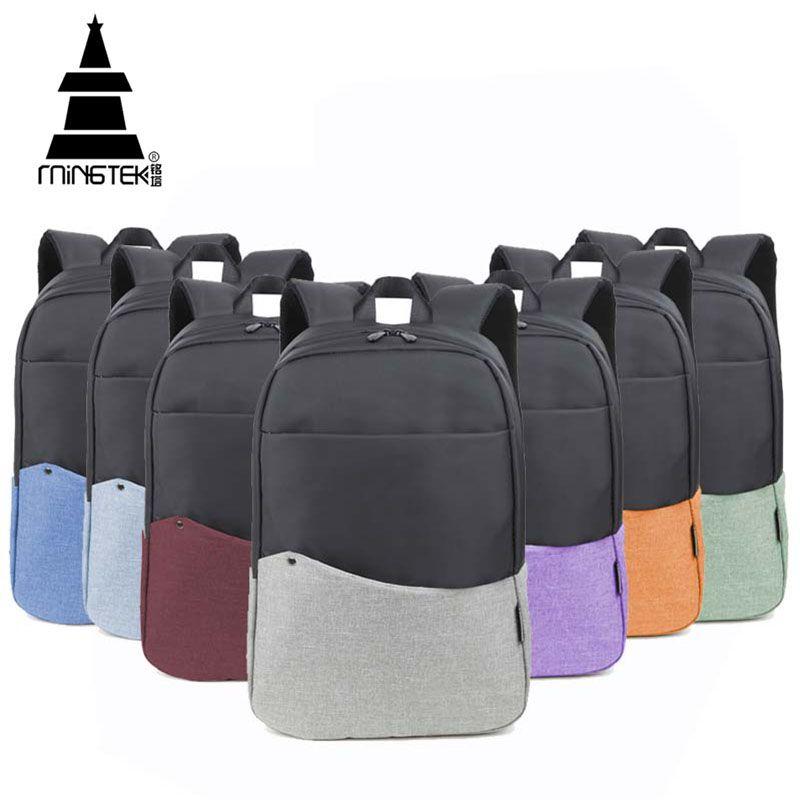 割引ラップトップバックパック14 15 6インチ防水ナイロン学校バッグ用ティーンエイジャーカラフル軽量男女兼用