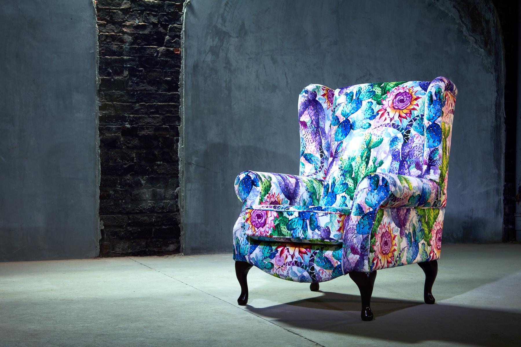 Cactus Print Armchair | Armchair, Armchairs for sale ...