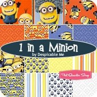 1 in a Minion Fat Quarter BundleDespicable Me for Quilting Treasures Fabrics