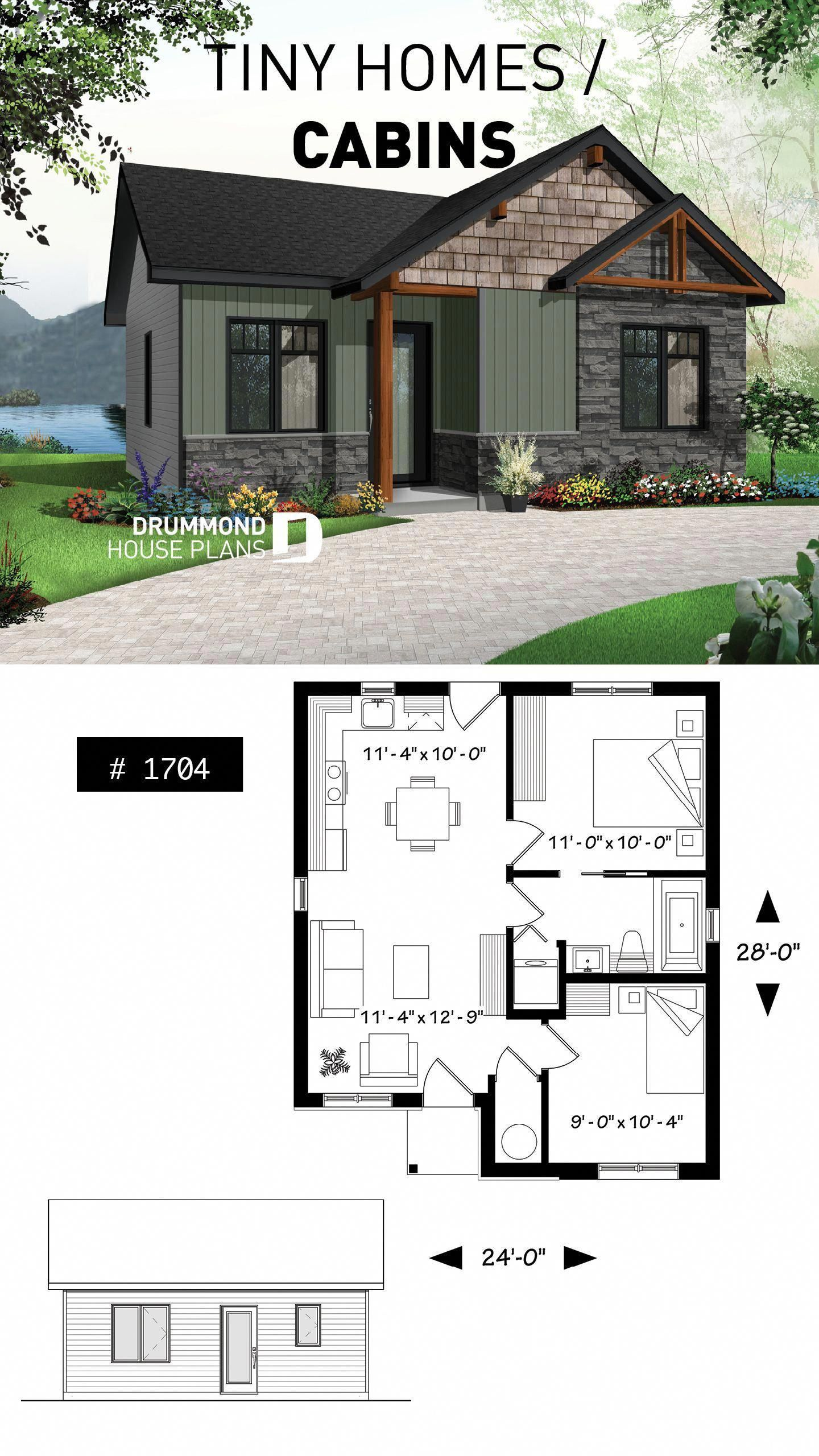 5 Free Diy Tiny House Plans To Help You Live The Small Happy Life Tinyhouse Tinylife Interiordesign Diy Tiny House Plans Cottage Plan Cottage House Plans
